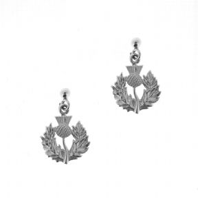 Scottish Thistle Sterling Silver Stud Earrings 1905